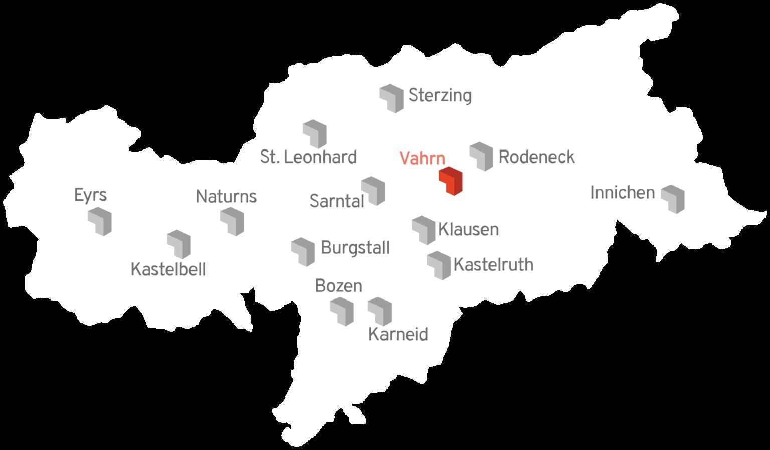 Baugroup Karte Standorte